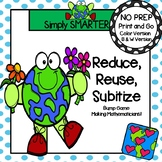 NO PREP Earth Day Themed Number Word Bump Game