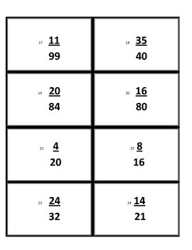 Reduce, Simplify Fractions Quiz Quiz Trade Cooperative Learning Card Game