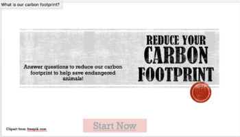 Reducing Carbon Footprint - PowerPoint Game