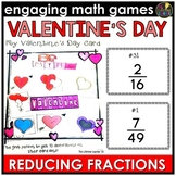 Valentine's Day Reducing Fractions Game