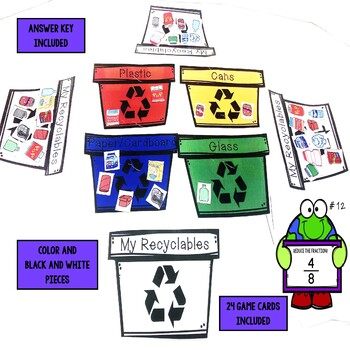 Earth Day Reducing Fractions Game