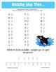 Summer Reducing Fractions Math Riddles