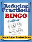 Reducing Fractions Bingo Game