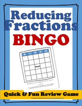 Reducing Fractions Bingo Game