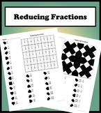 Reducing Fractions Color Worksheet