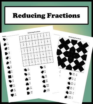 Reducing Fraction Coloring Worksheets & Teaching Resources | TpT