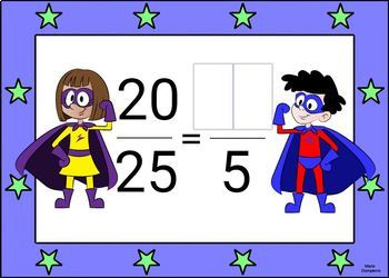 Reducing Fractions Digital Boom Cards (task cards) no prep