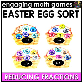 Easter Math Game - Reducing Fractions