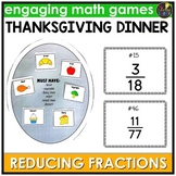 Reducing Fractions Thanksgiving Game