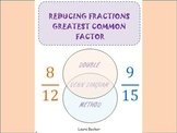 Reducing Fractions ~ Greatest Common Factor (GCF) Notes + Worksheet
