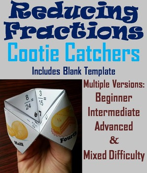 Reducing Fractions Activity/ Reducing Fractions Foldable (Scoot Game/ Quiz)