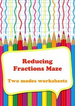 Reducing Fractions Maze