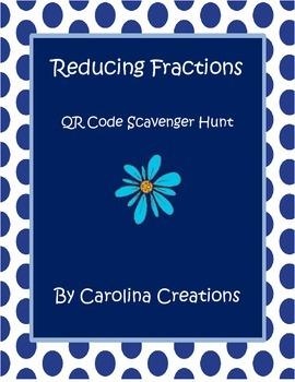Reducing Fractions QR Code Scavenger Hunt