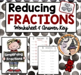 Reducing Fractions Simplifying Fractions Reduce Simplify with Answer KEY