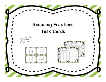 Reducing Fractions Task Cards
