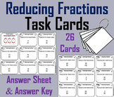 Reducing Fractions Task Cards 4th 5th 6th 7th Grade