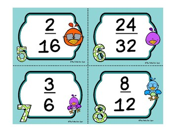 Reducing Fractions Task Cards Math Center