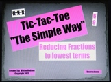 Reducing Fractions Tic Tac Toe Powerpoint Game