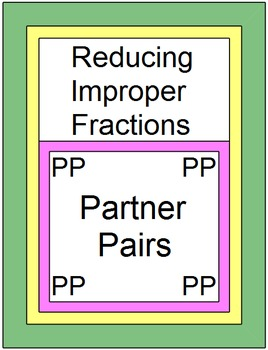 Fractions - Reducing Improper Fractions (Partner Pairs)