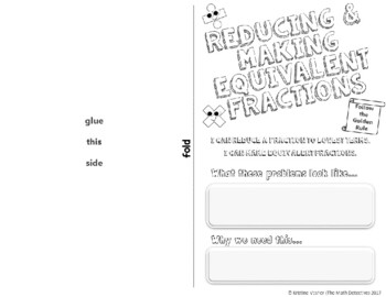 Reducing & Making Equivalent Fractions - Doodle Notes Brochure for INB