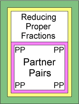 Fractions - Reducing Proper Fractions (Partner Pairs)