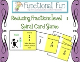 Reducing Simple Fractions Spiral Card Game Level 1