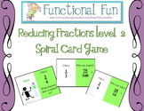 Reducing Simple Fractions Spiral Card Game Level 2
