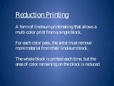 Reduction Print Lesson Plan
