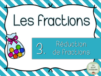 Réduction de fractions - Cartes à tâches / Task Cards / French