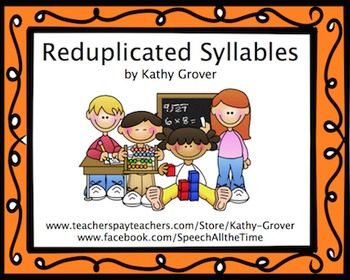 Reduplicated Syllables Minibook for Apraxia
