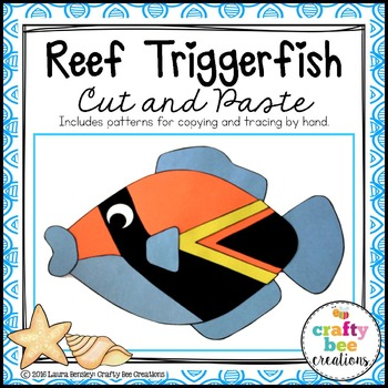 Reef Triggerfish Cut and Paste
