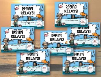 Reeling Relays! Rhythm Relay Game BUNDLE - 7 GAMES!