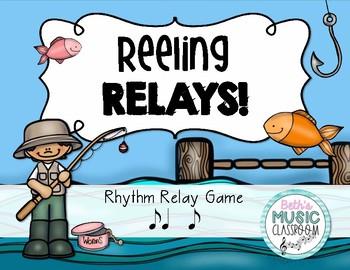 Reeling Rhythms!  Rhythm Relay Game - Syncopa