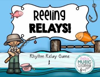 Reeling Rhythms!  Rhythm Relay Game - Ta Rest/Quarter Rest