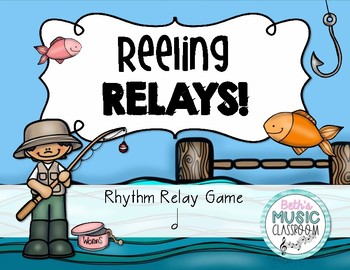 Reeling Rhythms!  Rhythm Relay Game - Ta-a/Half Note