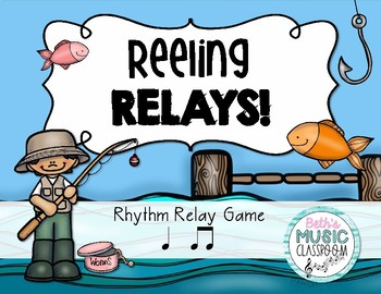 Reeling Rhythms!  Rhythm Relay Game - Ta ti-ti/Quarter & 8th Notes