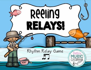 Reeling Rhythms!  Rhythm Relay Game - Tika-ti/2 16th Notes + 8th