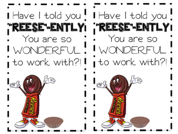 Reese's Candy Treat Tag