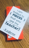 Reese's candy gift tag - teacher printable *Back to school*