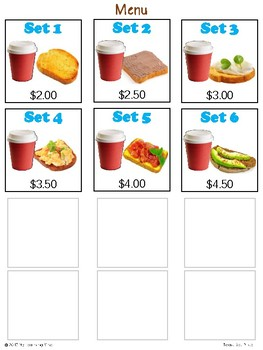 Refer and Match Toast Set Price. Processing Skills