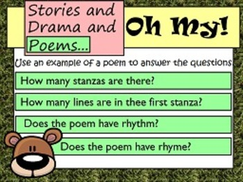 Refer to Parts of Stories, Dramas, and Poems RL.5 FLIPCHARTS and examples!