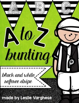 Referee Stripe Alphabet Bunting Letters