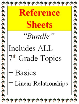 Reference - 7th Grade Bundle + Basics + Linear Relationships