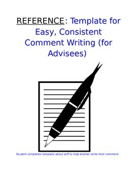 Reference - How to Write Advisee Comment: Easy & Consisten