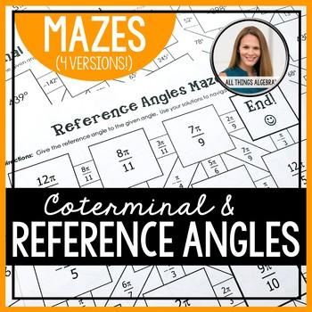Reference Angles and Coterminal Angles Mazes