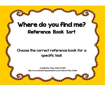 Reference Book Activity Sort