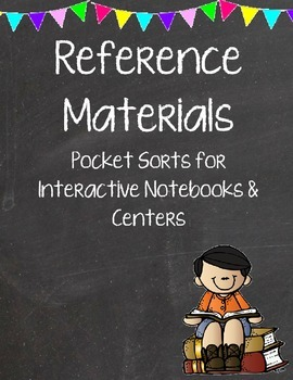 Reference Book Sort for Notebooks and Centers