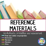 Reference Materials Printables and Worksheets