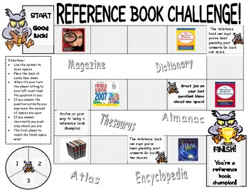 Reference Books Game Board