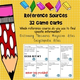 Reference Sources Game Cards -- Which Source?